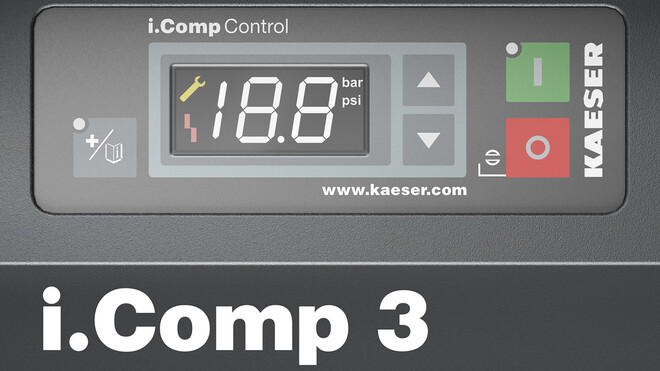 The i.Comp Control controller was specially developed for the compressor.
